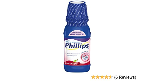 Amazon.com: Phillips Wild Cherry Milk of Magnesia Liquid, 12-Ounce (Pack of 2): Health & Personal Care