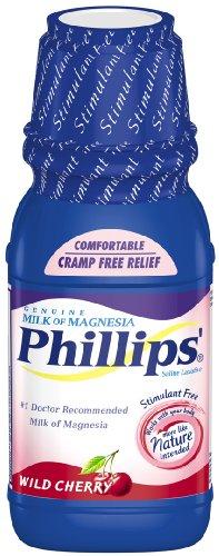 - Phillips' Wild Cherry Milk of Magnesia Liquid, 12-Ounce (Pack of 2)
