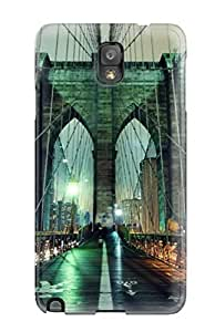 Hard Plastic Galaxy Note 3 Case Back Cover,hot Brooklyn Bridge Man Made Other Case At Perfect Diy