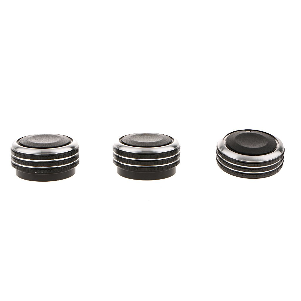 Baoblaze 3pcs Auto Replacement Air Conditioning AC Panel Control Switch Knob for 06-14 Chevrolet