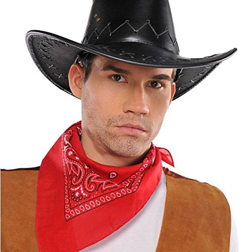 [High Riding Costume Party Cowboy Bandana, Red, Polyester, 20