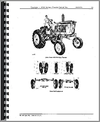 John Deere 4020 Tractor Parts Manual Amazon Tools Home