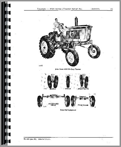 John Deere 4020 Tractor Parts Manual John Deere Parts Books