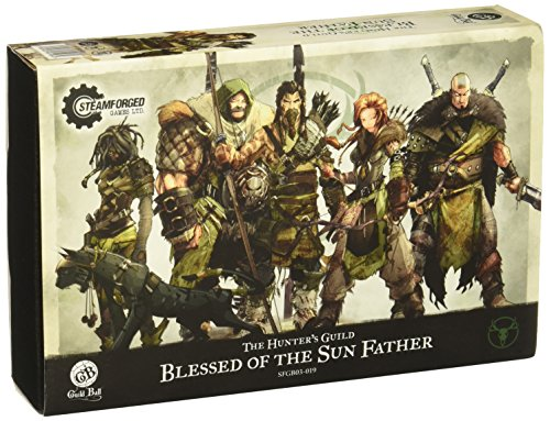 Steamfoged Games Guild Ball: Hunter Blessed of The Sun Father Expanded Starter Set Miniature Game Figure