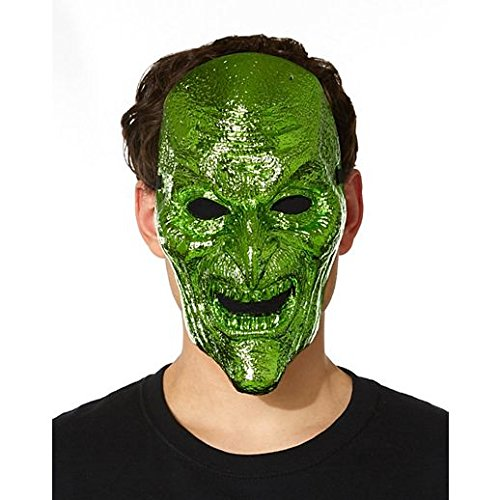 [Costume Beautiful Metallic Green Witch Mask] (Beautiful Witch Costumes)