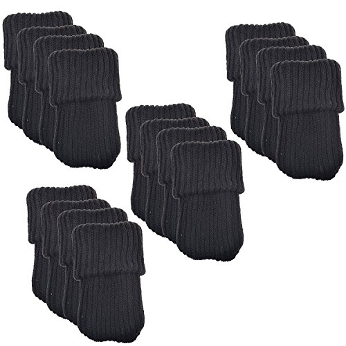 Price comparison product image BCP 16pcs Knitting Wool Furniture Socks / Chair Leg Floor Protector (Black Color)
