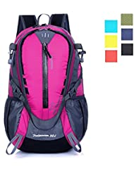 Lightweight Travel Backpack, ZCL 32L Backpacking Daypack Water Resistant, Adjustable, Comfortable, Spacious, Vibrant