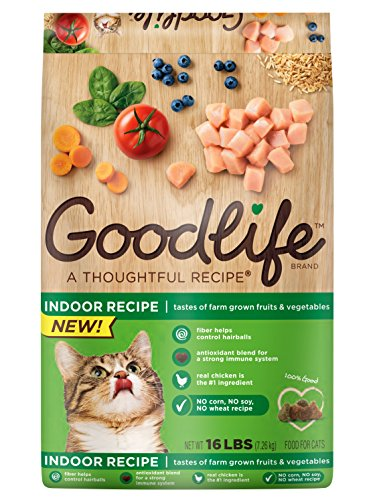 GOODLIFE Dry Food for Cats Indoor Recipe16 lbs. Bag (Pack of 1)