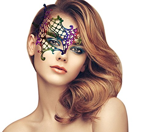 duoduodesign Exquisite High-end Lace Masquerade Mask (Chromatic/Half /Soft
