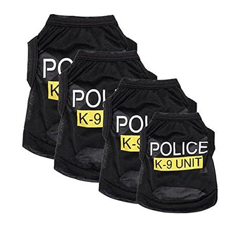 Disfraces de yunt Pet Pequeño perro gato chaleco de policía ...