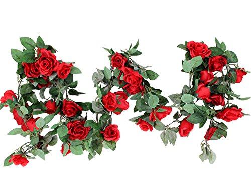 M2cbridge Artificial Silk Rose Garland Flower Ivy Garland 86