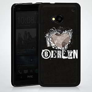 Carcasa Design Funda para HTC One M7 HardCase black - love Berlin