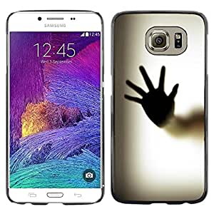Paccase / Dura PC Caso Funda Carcasa de Protección para - Hand Palm Window Fingerprint Art Body - Samsung Galaxy S6 SM-G920