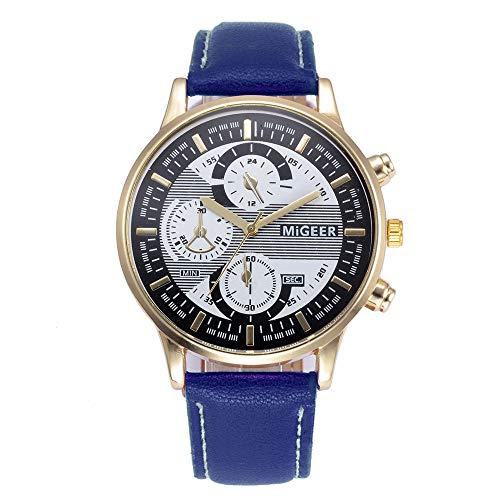 Willsa Fashion Design Leather Retro Design Leather Band Analog Alloy Quartz Wrist Watch from Willsa
