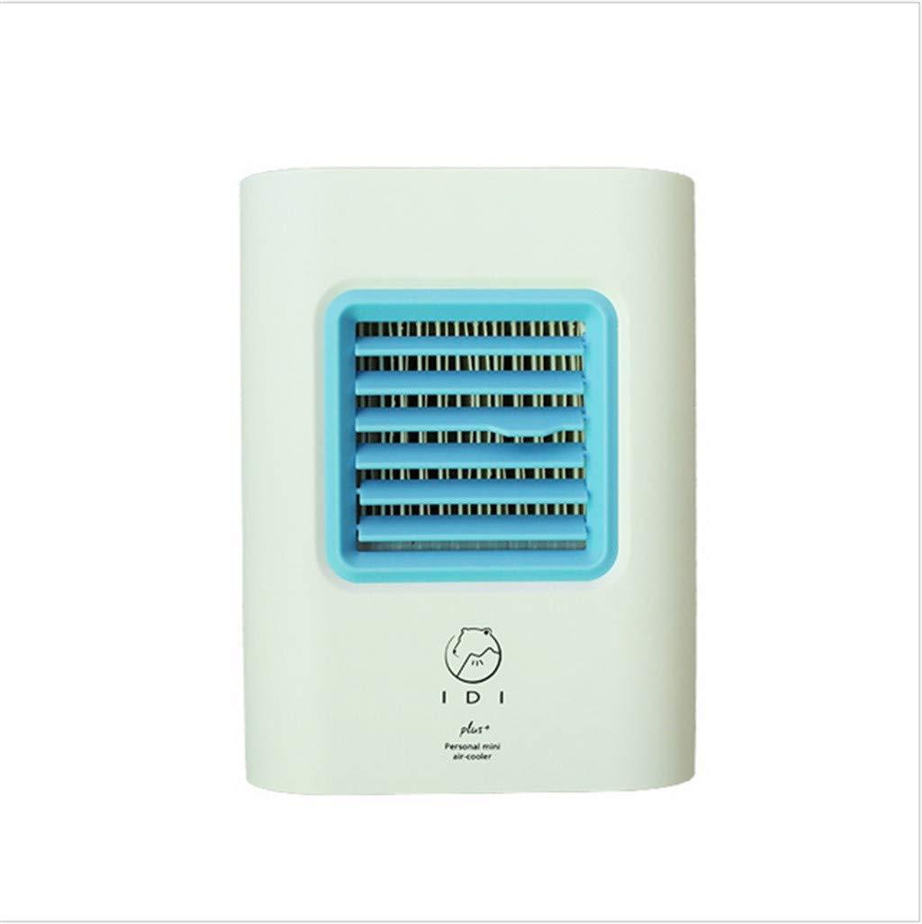 Ugood Mini Air Cooler Personal Air Purifier USB Charging Air Conditioner Fan Mini Portable Refrigerator Air Cooler Nano Fan (Blue)