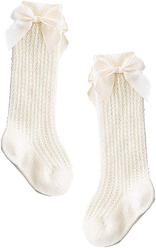 Vivitoch - Calcetines de bebé con lazo y lazos, de algodón, para ...
