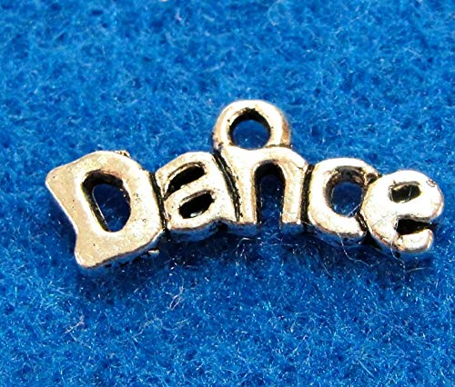 10Pcs. Tibetan Silver ''Dance'' Word Charms Pendants Drops Jewelry Findings WS49 Crafting Key Chain Bracelet Necklace Jewelry Accessories Pendants