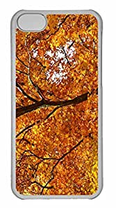 iPhone 5C Case, Personalized Custom Yellow Foliage Autumn for iPhone 5C PC Clear Case