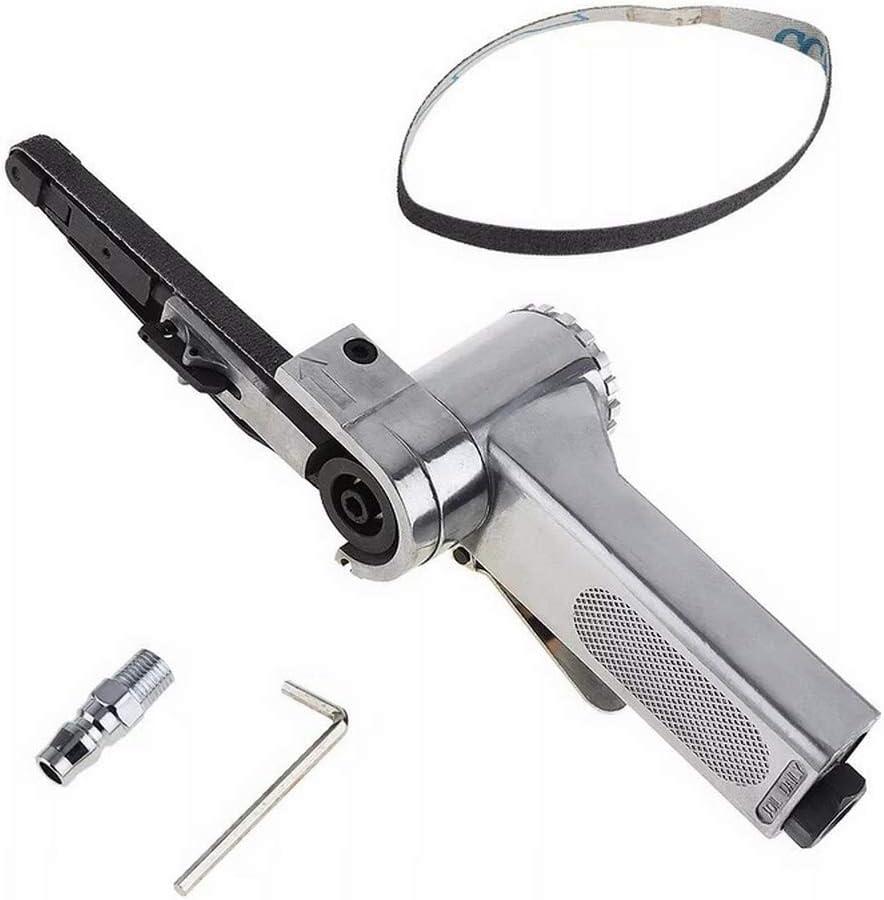 Pneumatisches Polierwerkzeug Druckluft-Bandschleifer 10 x 330 mm mit Einlassanschluss und Inbusschl/üssel 16000 U//min