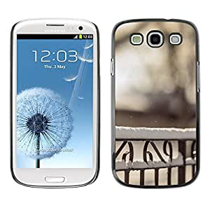 Hot Style Cell Phone PC Hard Case Cover // M00102796 fence winter snow photos // Samsung Galaxy S3 i9300