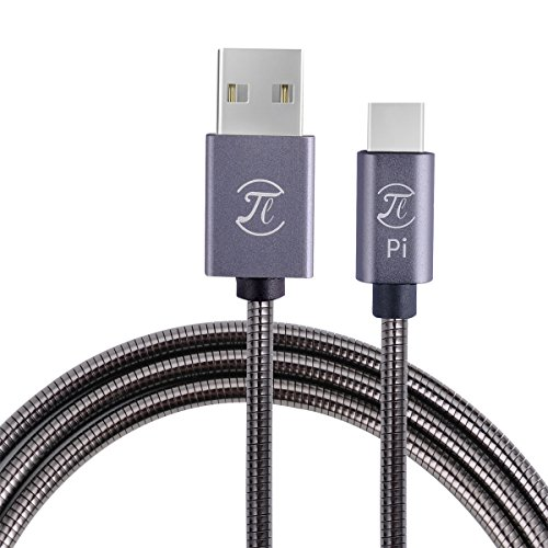 Pi Armor USB-C Cable, 1100MM, Quick Charge Cable for Android, Samsung Galaxy S8, HTC,LG, Tablet and Any Type C Devices Cellphone Cable Reinforced with Fast Charge Speed.