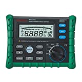 Mastech MS2302 Digital Earth Ground Resistance Voltage Tester Meter 0ohm to 4K ohm 100 Groups Data Logging with Backlit