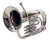 eMusicals Euphonium Bb Pitch With Free Bag and MouthPiece , Nickel Silver