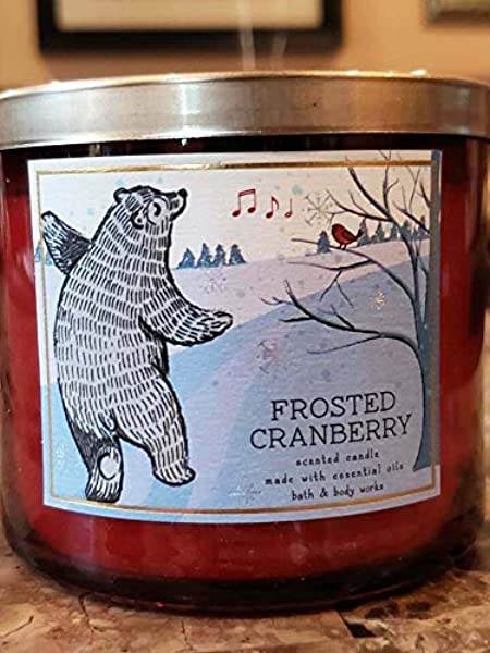 Bath /& Body Works Frosted Cranberry Scented Candle 14.5 oz