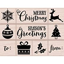 Hero Arts Tiny Christmas Woodblock Stamp Set