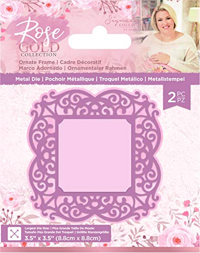 Sara Signature S-RG-MD-ORNF Rose Gold Collection-Metal Die-Ornate Frame, us:one Size, Silver