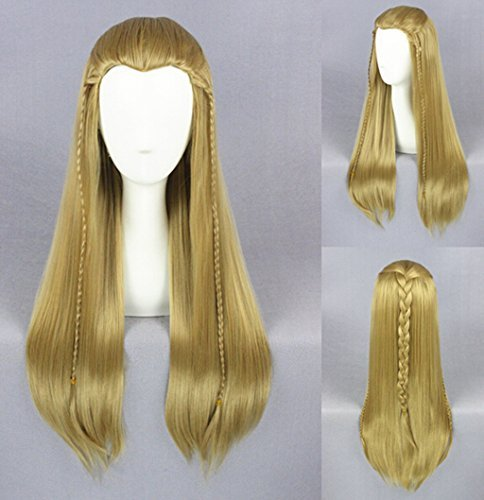 [Jooyi® Unisex Straight Styled Party Costume Cosplay Wigs Long Blonde] (Clinton Costume Party)