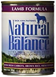 Natural Balance 13 oz Ultra Premium Lamb Formula Canned Dog Food (12 Pack) - One Size