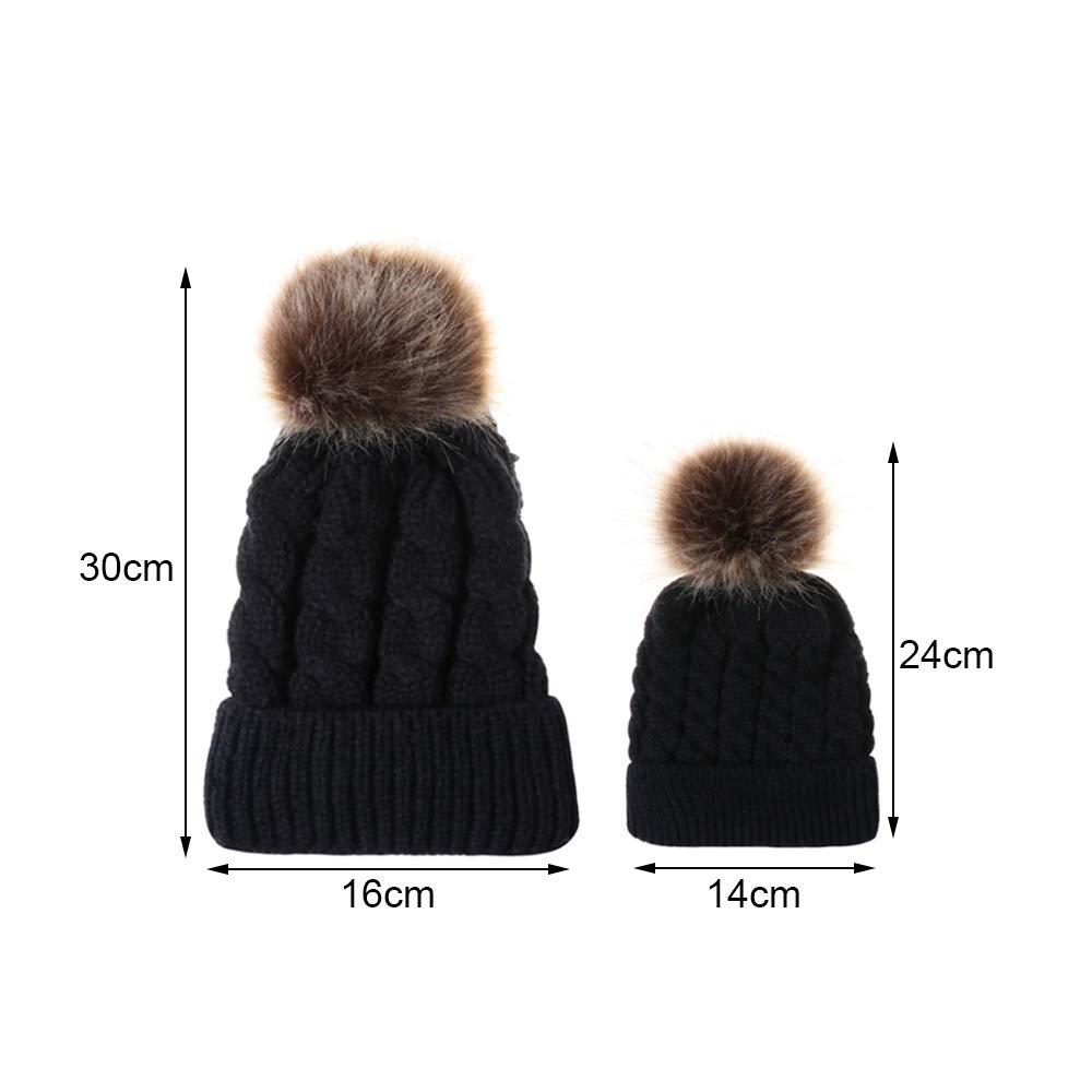 Cozyhoma - Sombrero de Punto para mamá y bebé, para Invierno ...