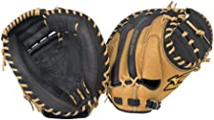 """The Mizuno World Win GXC75 is a 34.00"""" Full Sized catcher's mitt that features specially tanned Retro Leather, which produces a glove that is game ready for immediate performance."""