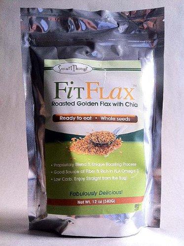 FitFlax - délicieux mélange de graines de lin grillées or avec Graines de Chia. Favorise la perte de poids, de l'énergie et de bien-être. 12 Oz. Sac.