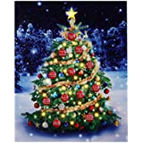 Mr. Christmas Musical Illuminart Ornament Tree Art, Lighted LED Canvas Light Show with 12 Holiday Songs - Wall Décor for Hanging or Table Decoration