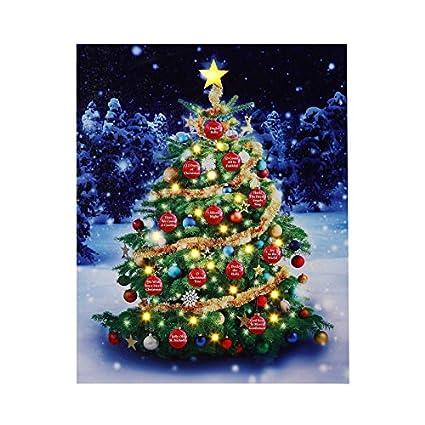 mr christmas musical illuminart ornament tree art lighted led canvas light show with 12
