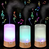 Mist Humidifier - BANGWEIER Wood Base Air Purification Diffuser Amora Humidifier with Music Function