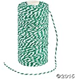 Green and White Bakers Twine - 328 ft