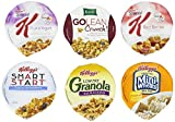 Flavors include: Kellogg's Low Fat Granola with Raisins (12), Smart Start Antioxidants (12), Special K Red Berries (12), Special K Fruit & Yogurt (10), Frosted Mini Wheats Bite Size (8), Kashi GoLean Crunch (6).  Kellogg's Cereal Wellness Assortm...