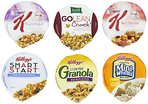 Kelloggs Cereal Cup Assortment Pack  Wellness (6 Flavors),Pack of 60