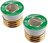Bussman BP/T-30 30 Amp Dual-Element Time-Delay Edison Base Plug Fuse 2 Count