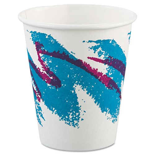 SCC 376JZJ Jazz Hot Paper Cups, 6 oz., Polycoated, Jazz Design, 50/Bag