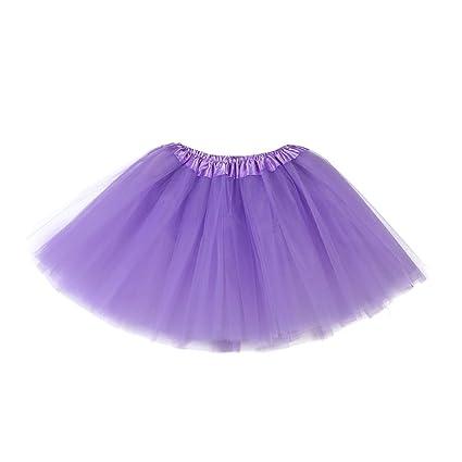 Falda niña ❤ Amlaiworld vestido princesa niña bebé Linda Faldas de ballet de tutú sólido