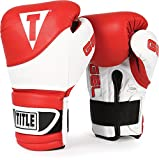 TITLE Boxing Gel Suspense Training Gloves, Red/White, 16-Ounce
