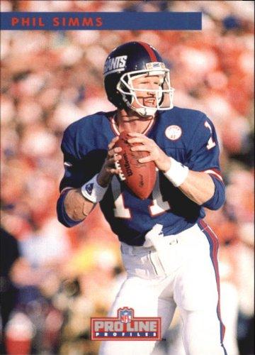 - 1992 Pro Line Profiles Football Card #343 Phil Simms