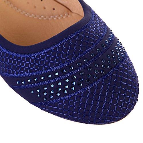 Modeuse Ballerines Strass avec Bleu La R04fAf