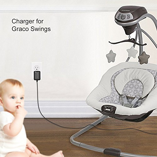 BSSPOWER AC to DC Adapter Power Cord for Graco Simple Sway , Graco Glider, DuetSoothe, DuetConnect LX Baby Swing by BSSPOWER (Image #2)