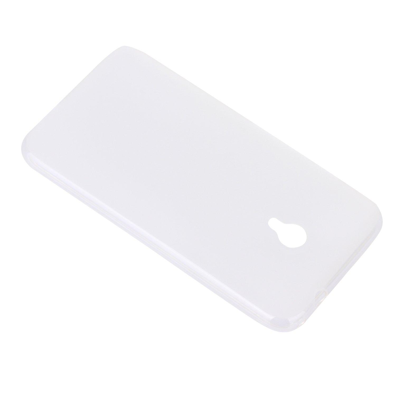 Lusee® Funda de silicona para Vodafone Smart Turbo 7 VFD500 Suave Cascara TPU blanco semi transparente: Amazon.es: Electrónica