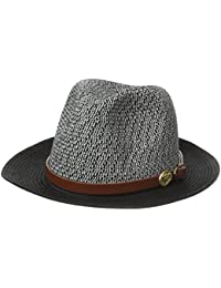 Women's Straw Brim Hat With Leather Strap